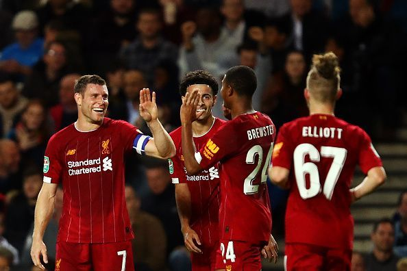 Liverpool rested players in the midweek victory over MK Dons