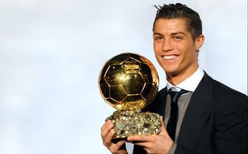 Ronaldo won his first of five Ballon d'Or's in 2008