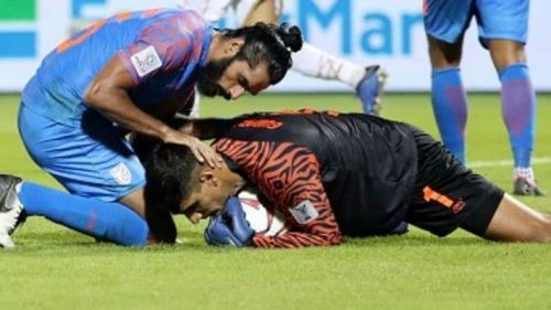 India managed to snatch a vital away point against Qatar.