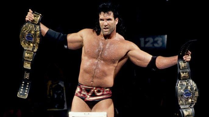 Razor Ramon after defeating Shawn Michaels at WrestleMania X.