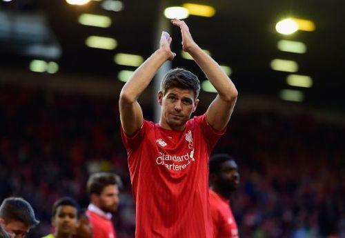 Steven Gerrard left Liverpool for LA Galaxy in 2015.