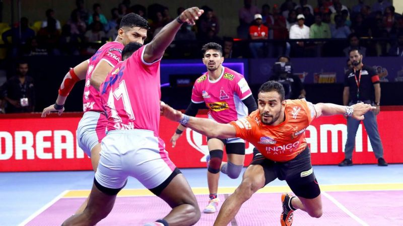 Abhishek Singh returned to form with a Super 10 against Jaipur Pink Panthers