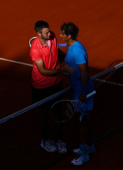 Nadal beat Sock in the 2015 French Open fourth round for his record 39th consecutive match win at the tournament