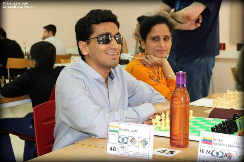 During the European Tour with his mother. Credit- Niklesh Jain, ChessBase India