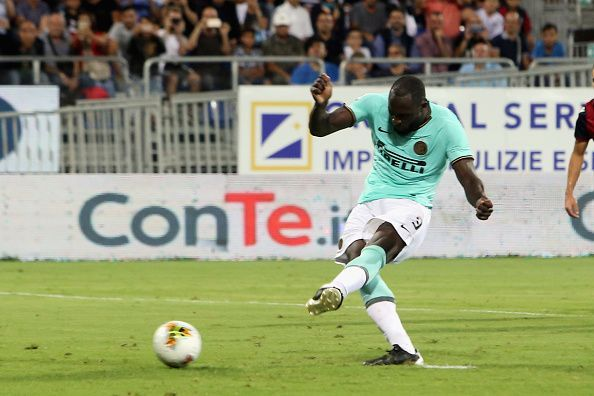 Romelu Lukaku was targeted during Inter