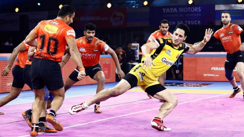 U Mumba defeated Telugu Titans once again this season