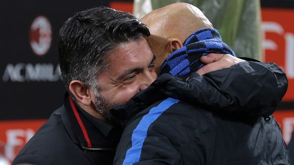 Neither Gattuso nor Spaletti will be in the dugout for this game