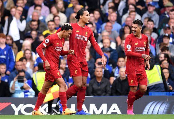 Alexander-Arnold and Firmino scored as Liverpool were 2-1 winners in a hard-fought victory over Chelsea