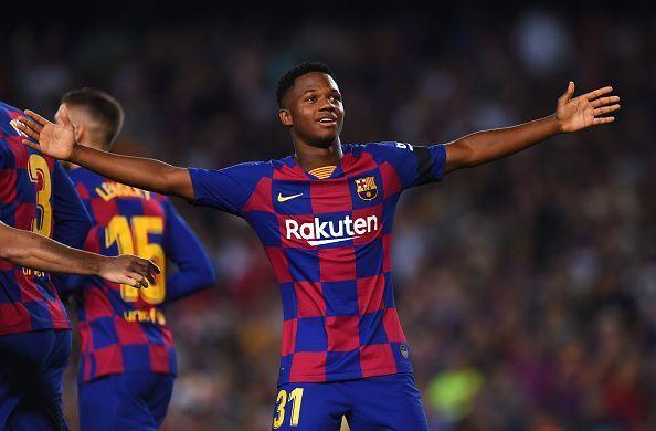 Ansu Fati opened his Camp Nou account