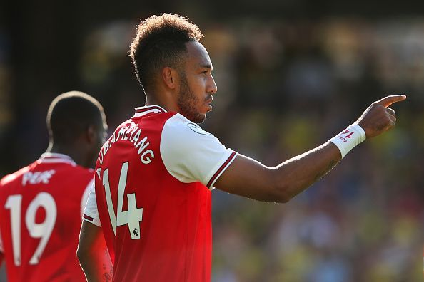Aubameyang has been in brilliant form