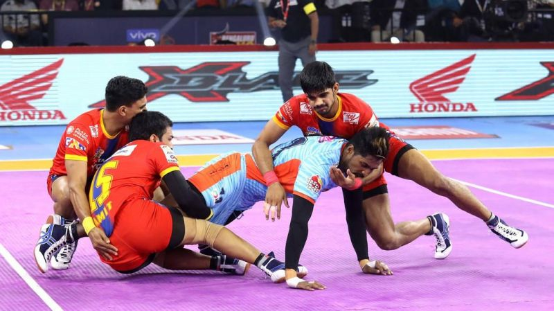 UP Yoddha defenders were in fine form tonight