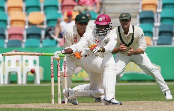 Chris Gayle in action v Australia