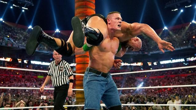 Image result for the rock vs john cena