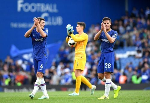The Chelsea defence has had a tough start to the season