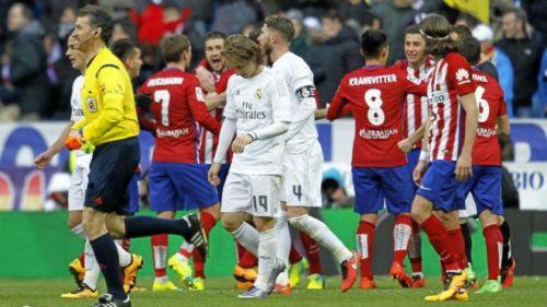 The Madrid derby is always a feisty affair.