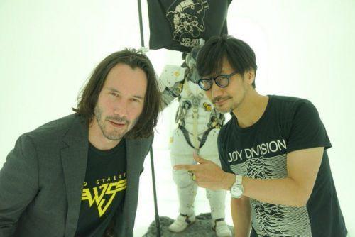 Keanu Reeves and Hideo Kojima