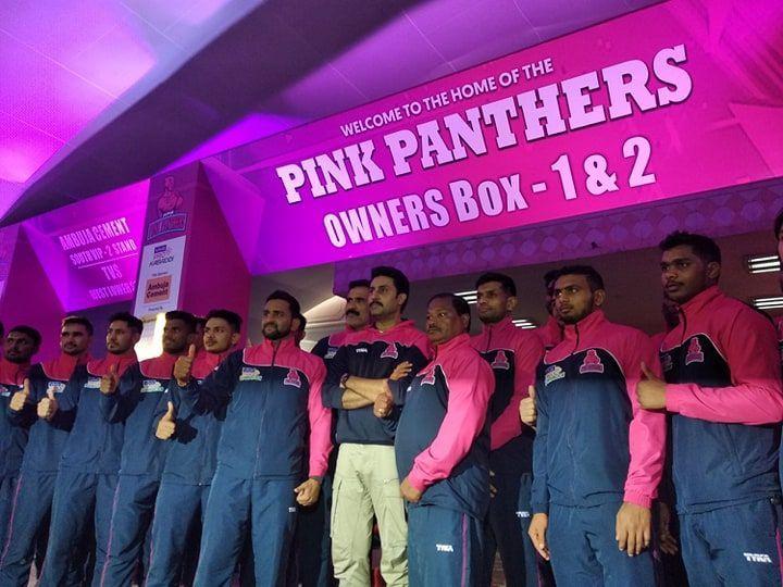 होम लेग के लिए तैयार जयपुर पिंक पैंथर्स की टीम