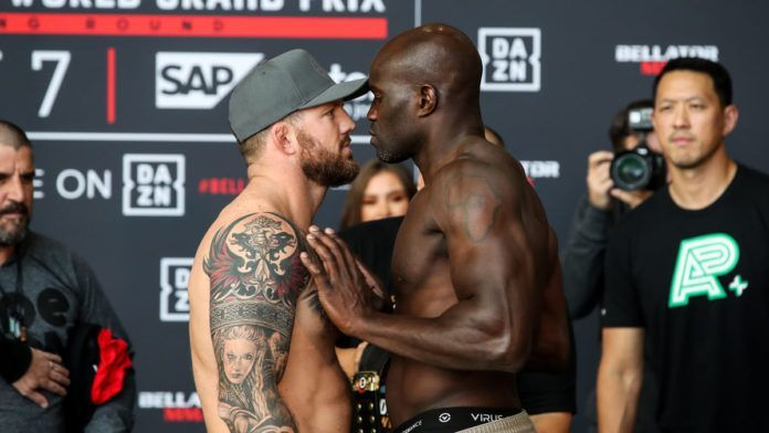 The fight between Bader and Kongo was declared a No Contest