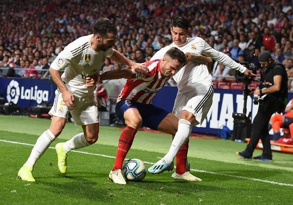 Real Madrid traveled to face Atletico Madrid in the Madrid Derby