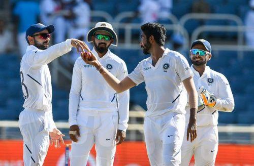 दूसरे टेस्ट मैच के दौरान भारतीय खिलाड़ी