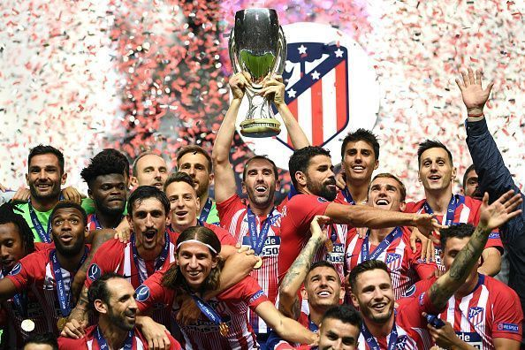 Atletico Madrid won the UEFA Super Cup over their city rivals.