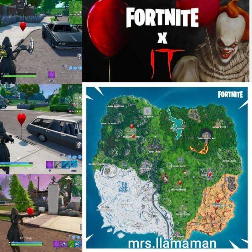 Where to find the balloon in Fortnite (Image Source: Lydia Deneez, Twitter)