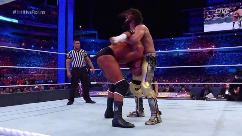 Seth Rollins defeated Triple H with his own move at WrestleMania 33
