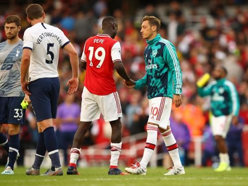 The game between Arsenal and Tottenham Hotspur finished all square