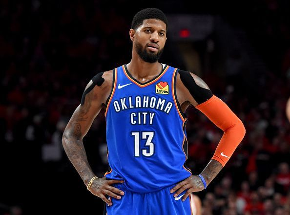 Paul George spent two seasons with the OKC Thunder before his trade to the LA Clippers