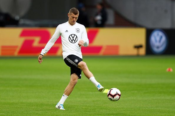 Toni Kroos is one of the few remaining familiar faces in the changed Germany side