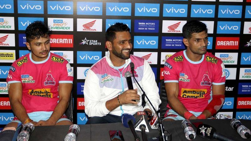 मैच के बाद प्रेस कॉन्फ्रेंस में जयपुर की टीम