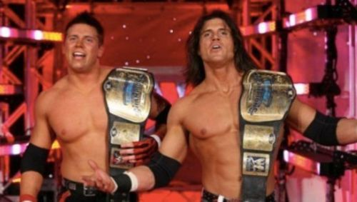 Miz and Morrison faced off in a Money in the Bank qualifying match back in 2008