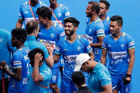 Indian players at the Olympics Test Event in Tokyo.