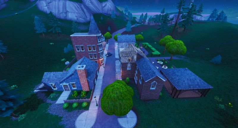 Starry Suburbs in Fortnite Battle Royale (Image: Epic Games)