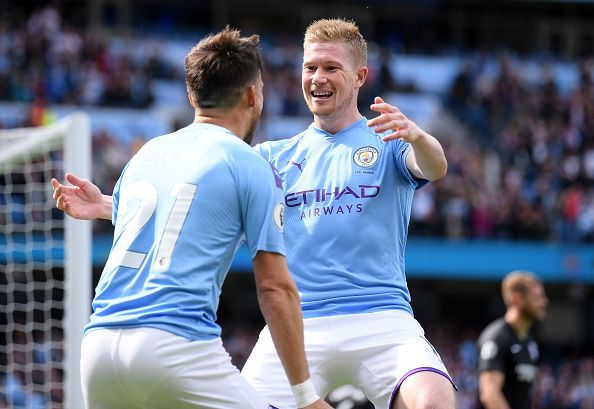 De Bruyne scored his first goal of this season