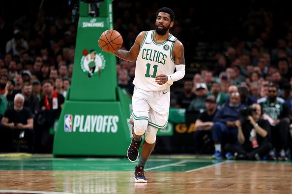 Kyrie Irving spent two seasons with the Celtics before moving to the Nets earlier this summer