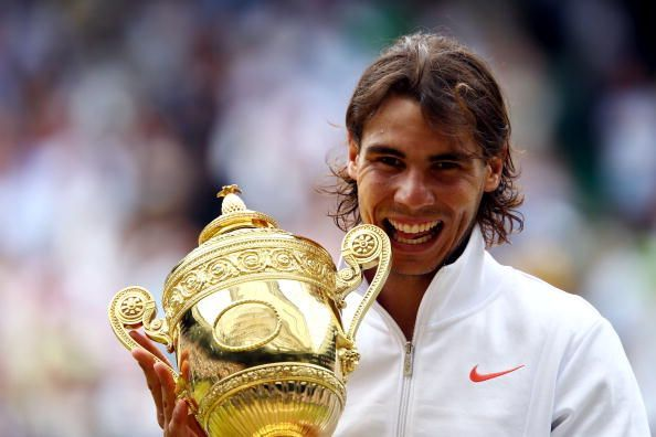 Nadal beat Berdych in the 2010 Wimbledon final
