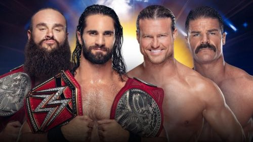 WWE RAW Tag Team Championship: Braun Strowman and Seth Rollins (c) vs Robert Roode and Dolph Ziggler