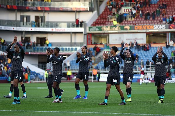 Liverpool players appreciated the away support at Turf Moor