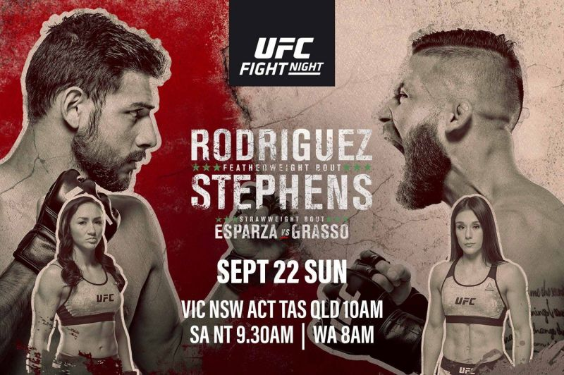 Watch UFC Fight Night 159 Rodriguez vs Stephens 9/21/19