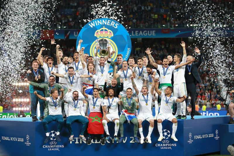 Real Madrid rejoice after winning their record 13th European Cup (7th Champions League title) in 2018