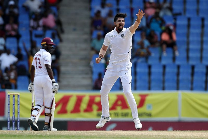 West Indies vs India, 1st test at Antigua. Ishant picked his 9th 5-wicket haul