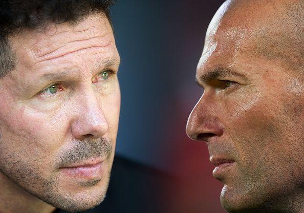 Diego Simeone and Zinedine Zidane