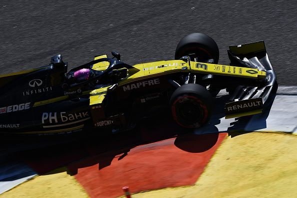 Significant floor damage along with a loss in downforce and balance forced Daniel Ricciardo to retire