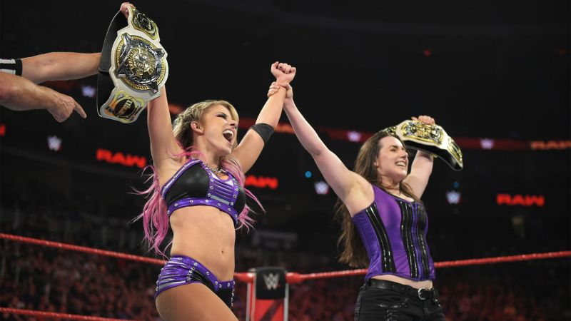 Alexa Bliss and Nikki Cross defend their Championships this weekend