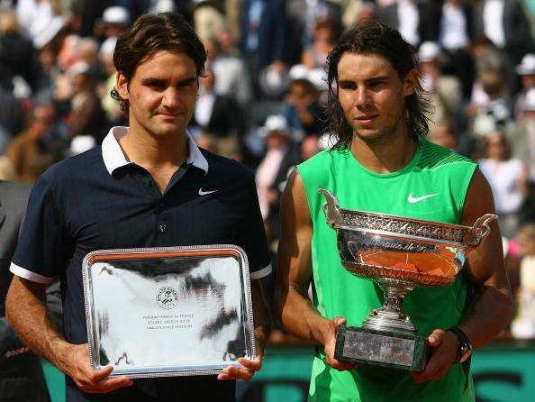 Nadal beat Federer in the 2008 French Open final