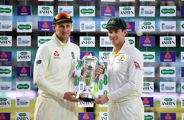 The Ashes was shared by England and Australia.