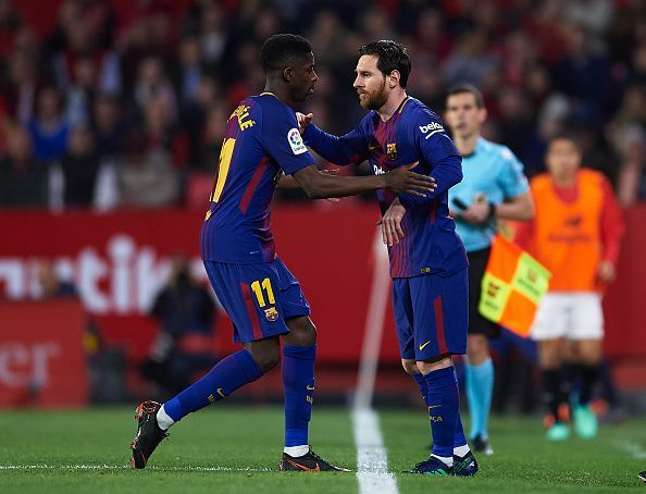 Lionel Messi insists that Dembele attitude will have to improve to realize his full potential