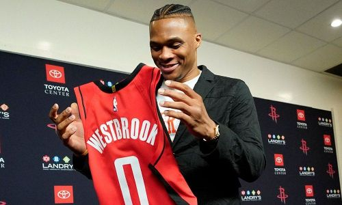 Houston Rockets introduce Russell Westbrook