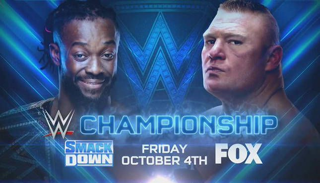 Kofi Kingston defends his WWE Championship against Brock Lesnar